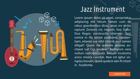 Jazz Instrument Conceptual Banner Photos stock