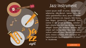 Jazz Instrument Conceptual Banner Images stock