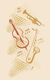 Jazz instruments Stock Photo
