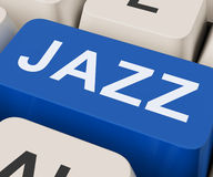 Jazz Key Shows Concert Band Or Music Royalty Free Stock Image