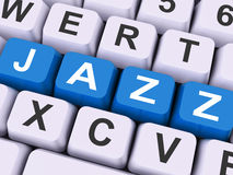 Jazz Key Shows Concert Orchestra Or Music Stock Photography