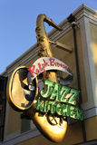 Jazz Kitchen. Restraunt sign. It is a New Orleans Theme Restraunt Royalty Free Stock Image