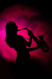 Jazz lady Royalty Free Stock Images