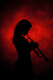 Jazz lady Royalty Free Stock Photo