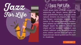 Jazz For Life Conceptual Banner Image libre de droits