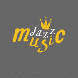 Jazz - live music. Lettering Stock Photo