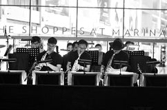 Jazz. At Marina Bay The Shoppes in Singapore Stock Photography