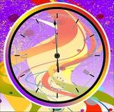 Jazz Midnight Clock pourpre Photos stock