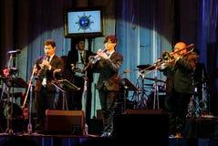 Jazz Minions band perform in Jazz in memory at Bangsaen Royalty Free Stock Image