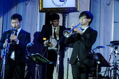 Jazz Minions band perform in Jazz in memory at Bangsaen Stock Photo