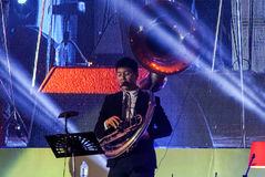 Jazz Minions band perform in `Jazz in memory at Bangsaen` concert Stock Image