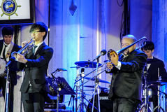 Jazz Minions band perform in `Jazz in memory at Bangsaen` concert Stock Photos