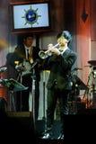Jazz Minions-de band presteert in Jazz in geheugen in Bangsaen Royalty-vrije Stock Afbeeldingen
