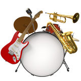 Jazz Montage Royalty Free Stock Image
