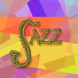 Jazz music. Abstract colorful background Stock Photos