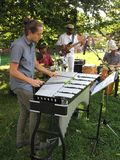Jazz Music Band at McLean Gardens Stock Photo