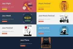 Jazz music banner design Royalty Free Stock Images