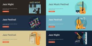Jazz music banner design Stock Photos