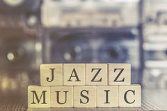 Jazz Music concept. With audio cassettes Royalty Free Stock Photos