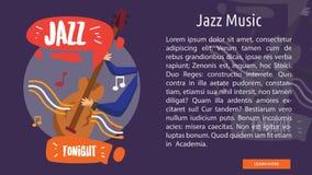 Jazz Music Conceptual Banner Image libre de droits