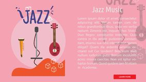 Jazz Music Conceptual Banner Photos libres de droits