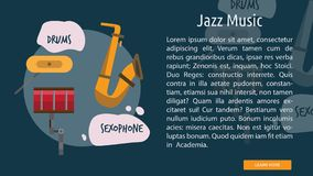 Jazz Music Conceptual Banner illustration de vecteur