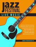 Jazz music concert, poster background template Royalty Free Stock Photography