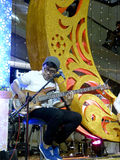 Jazz music. Entertain visitors mall in the city of Solo, Central Java, Indonesia Stock Images