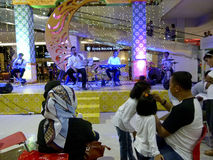 Jazz music. Entertain visitors mall in the city of Solo, Central Java, Indonesia Royalty Free Stock Photo