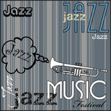 Jazz music festival. Abstract colorful background with white trumpet. Jazz music festival concept Stock Images