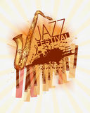 Jazz music festival background Stock Images