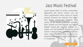 Jazz Music Festival Conceptual Banner Photos stock