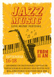 Jazz Music Festival Poster Photographie stock libre de droits