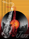 Jazz music festival, poster background template Royalty Free Stock Photos
