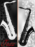 Jazz music festival, poster background template Stock Images