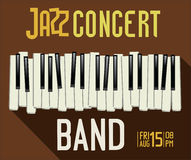 Jazz music festival, poster. Brown jazz music festival, poster or background Stock Images