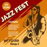 Jazz music festival poster Royalty Free Stock Photo