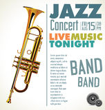 Jazz music festival, poster Stock Image