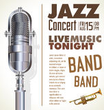 Jazz music festival, poster. Jazz music festival, retro poster Stock Photos