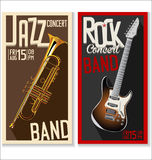 Jazz music festival, poster Stock Photo