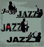 Jazz Music headline. 4 different headline Stock Photography