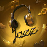 Jazz music headphones Stock Photography
