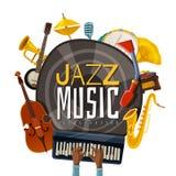 Jazz Music Illustration ilustração do vetor