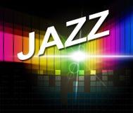 Jazz Music Indicates Sound Track och ljudsignal Fotografering för Bildbyråer