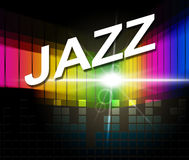 Jazz Music Indicates Sound Track und Audio Stockbild