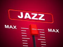 Jazz Music Indicates Sound Track und Audio Lizenzfreie Stockfotos