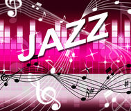 Jazz Music Indicates Track Soundtrack und Melodie Stockbild