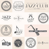 Jazz music labels Stock Images