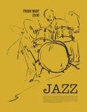 Jazz music party invitation design. Stock Photos