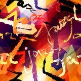 Jazz music pattern. royalty free illustration